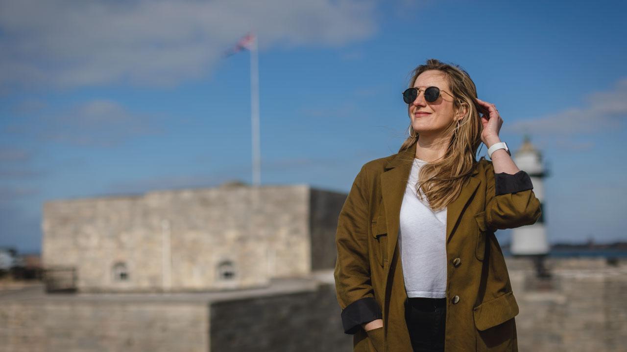 Alanna Smith outside Southsea Castle - Ask Alanna